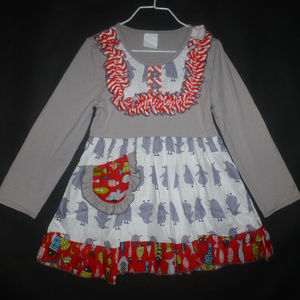 Other - Boutique Penguin Girls Long Sleeve Ruffle Dress